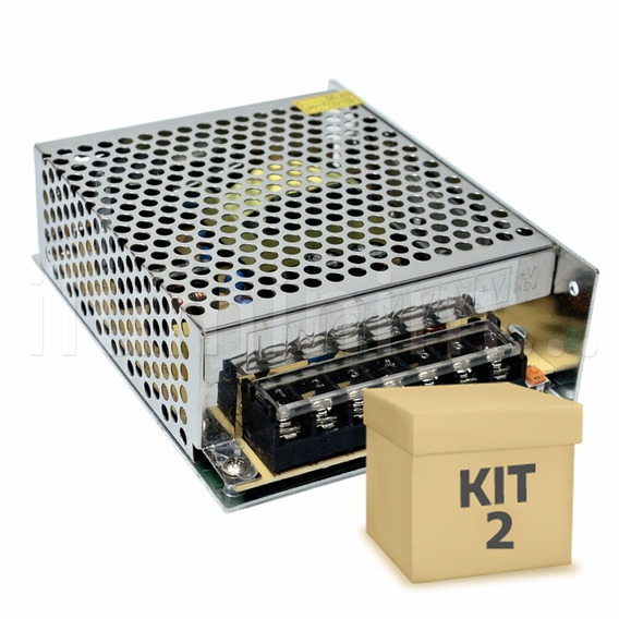 Kit 2 Fonte Chaveada 10a 12v 120w Cftv Fita Led