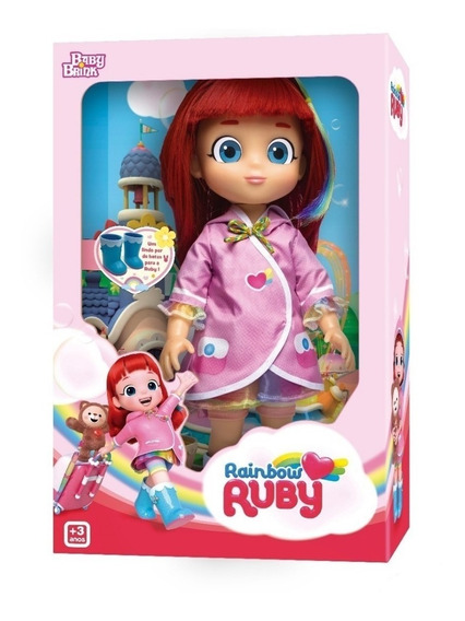Boneca Rainbow Ruby Baby Brink + Hatchimals Surpresas