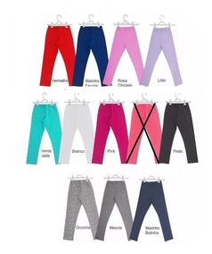 Calça Legging - Tam 1 A 6 Anos - Kit 6 Peças