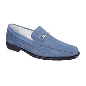4124310517 Sapato Masculino Mocassim Sandro Moscoloni Dolphins Azul