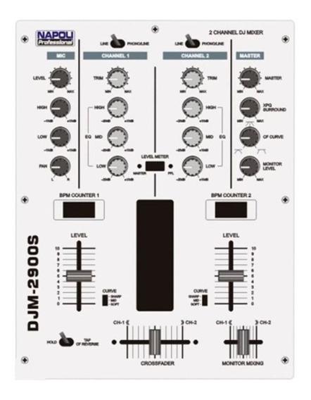 Mixer Super Dj Napoli Djm-2900s 2 Canais Nota Fiscal Novos