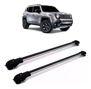 Travessa Bagageiro Rack Jeep Renegade 2015 A 2019 Prata Slim
