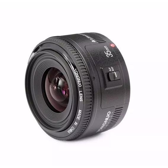 Lente Yongnuo Yn35mm F/2 P Canon Autofoco E Motor De Foco
