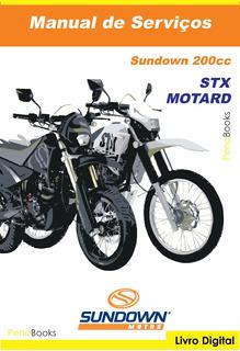 Manual Serviço Oficina Mecânica Sundown 200 Stx Motard