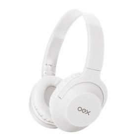 Headset Fone De Ouvido Hs207 Microfone Flow Dobrável Branco