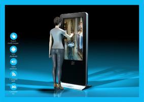 Totem Digital Touch Screen 49 Polegadas Wifi, Lan, 3g