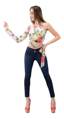 Jeans Para Mujer Levanta Pompa Stretch Savi Jeans 3133