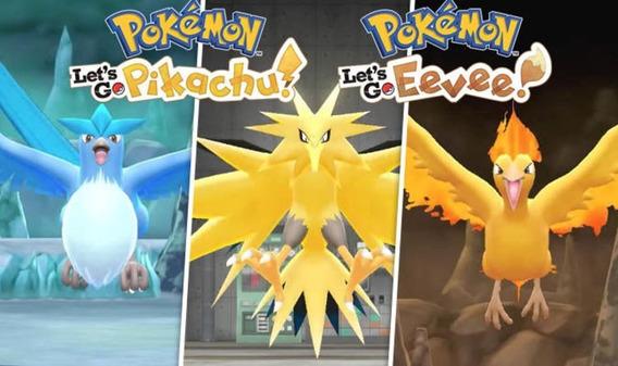 Articuno, Zapdos Moltres Para Pokemon Lets Go