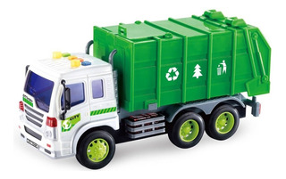 Camion Recolector De Basura Reciclable Friccion Luces Sonido
