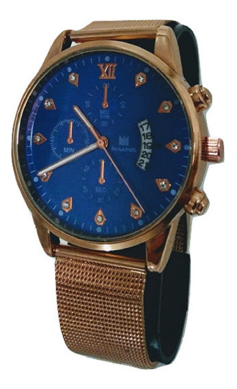 Relógio Masculino Dourado Shaarms Aço Inoxidável Ouro Barato
