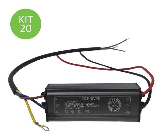 Driver Reator Para Reposição Refletor Led 50w Bivolt Kit 20