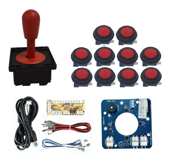 Comando Magnético 10 Botoes Corpo Preto Zero Delay Vermelho