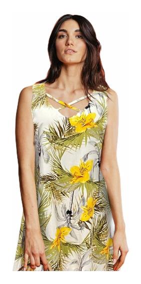 Vestido Primavera Verano Playa Casual Escote En Cruce