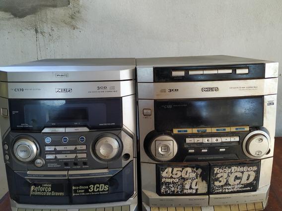 2 Rádios Cd Philips C170 C100 Min Hifi System