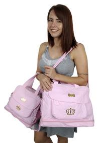 Kit 2 Bolsa Bebe Mala Maternidade Rosa Menina Mega Promoção