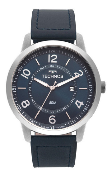 Relógio Original Technos Masculino Prata 2115mst/0a