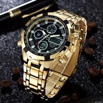 Relógio Muito Barato A Muda Dourado Masculino Lindo Original
