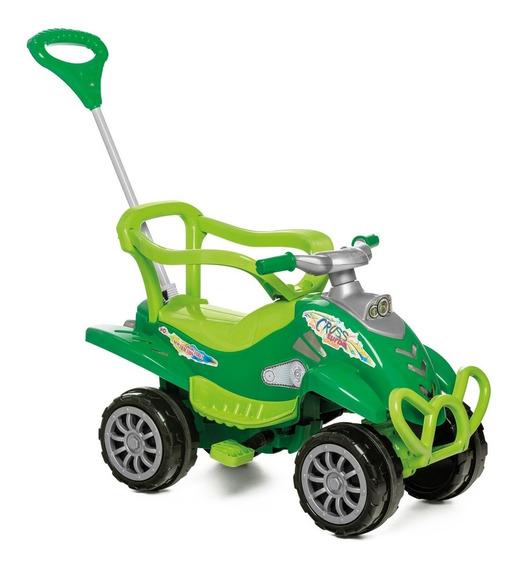 Carrinho Passeio Infantil Empurrador Pedal Bebê Cross Verde
