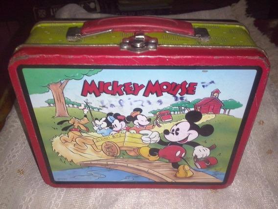 Lunchera De Chapa De Mickey Mouse Norteamericana
