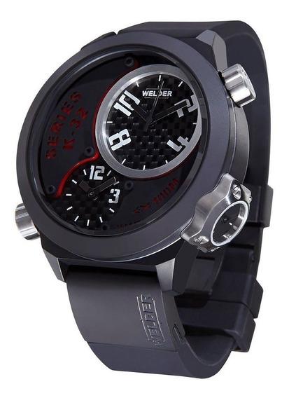 Exclusivo Reloj Welder U-boat K32 Oversize Triple Zona Horar