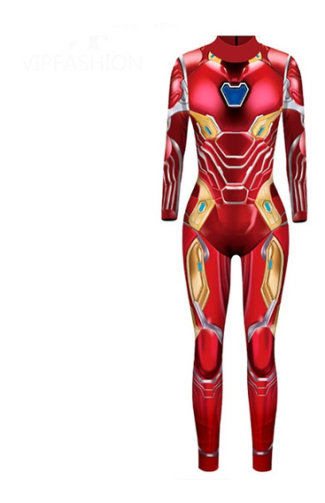 Traje Iron Man Avengers Enterizo Disfraz Hallowen Chicas