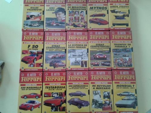 Lote 30 Videos Vhs Coleccion El Mito Ferrari