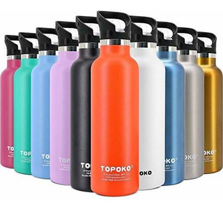 Topoko 25 Oz Hydro Double Walled Wall Flask Stainless Steel