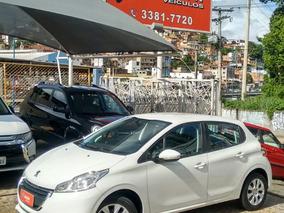 Peugeot 208 1.5 Active Flex 2015 Branco Unica Dona Completo