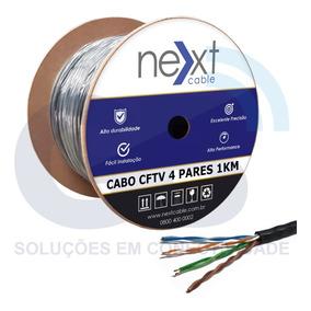 Cabo De Rede 4 Pares Cftv Cca Next Cable Cat5e Bob 1000m