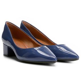 6d7c3e4a25 Scarpin Azul Verniz Bebece - Sapatos no Mercado Livre Brasil