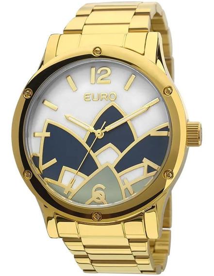 Relógio Feminino Euro Madrepérola Eu2035ycx/4d Dourado