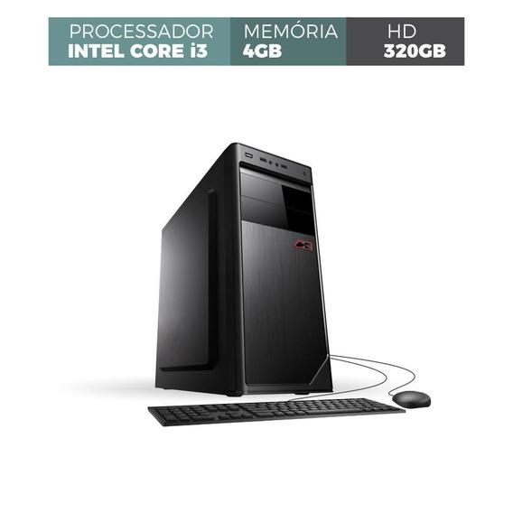 Pc Core I3 Memória 4gb 320gb Com Hdmi Tec Mou Frete Grátis