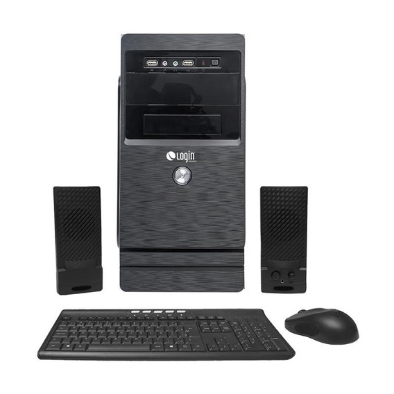 Computador Completo Login Core I3 4gb 1tb Dvd-rw Linux