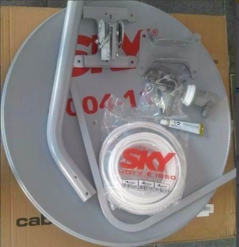 Antena_ku_60cm _ Lnb Duplo Universal _ 20m Cabo