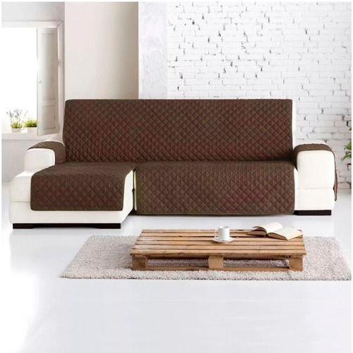 Protector Sofa L Izquierda Chaise Longue Normal Cafe - Camel