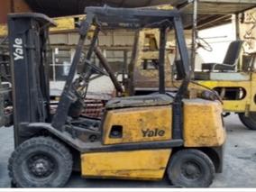 Autoelevador Yale Fd25 Diesel Torre Triple C/desplazador