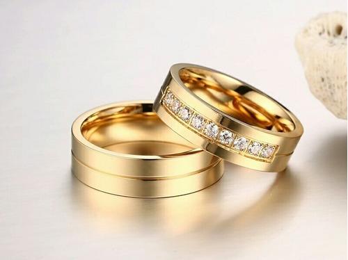 Imagen 1 de 1 de Anillos De Matrimonio Oro Plata Amor Amistad Regalo Dia Mama
