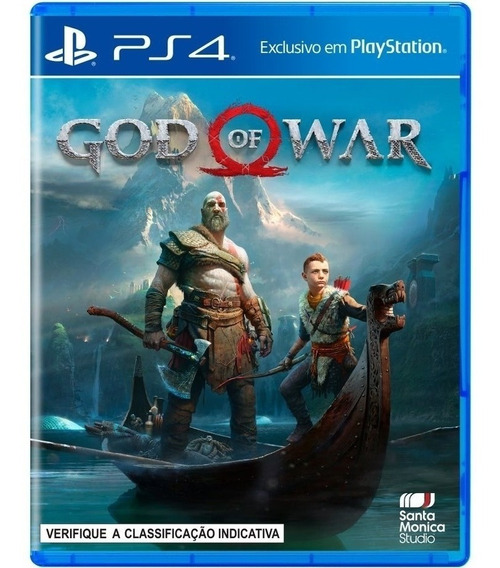 Jogo God Of War4 Ps4 Midia Fisica Cd Original Lacrado Dublado Br