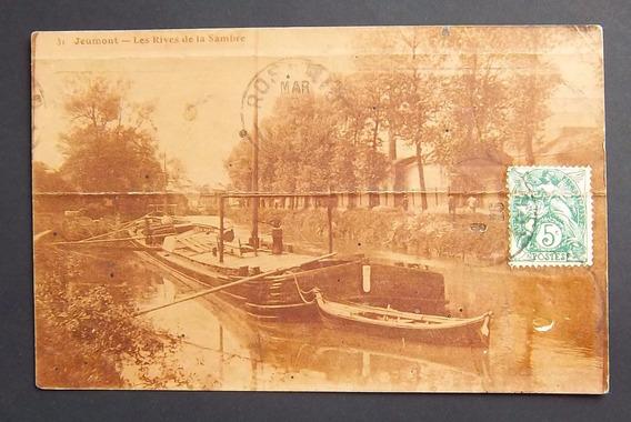 Postal Francia Jeumont Costa Del Rio Sambre Usada Reg 1926