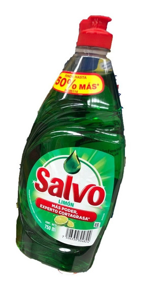 Pack 25 Salvo Líquido Limón 750ml Deter Trastes Envio Gratis