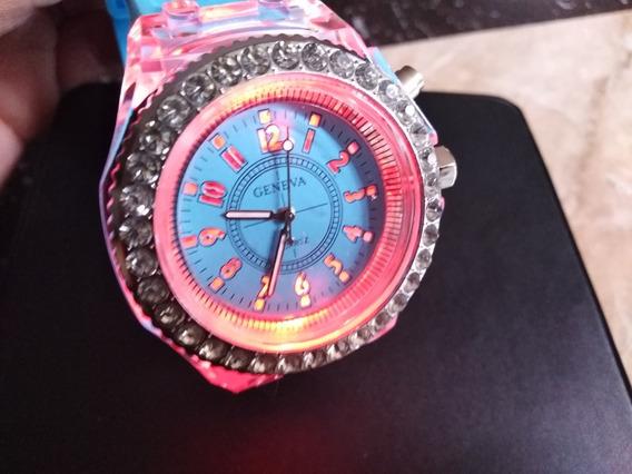 Reloj Geneva Dama Con Luz Led