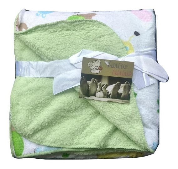 Cobertor/manta - Verde Zoo Bebê Infantil Antialérgica