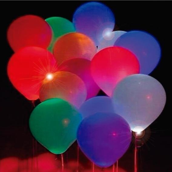 Balão De Led Multicolorido Branco - Kit 10 Unidades