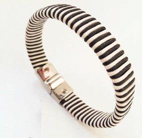 Pulseira Bracelete Masculina Feminina Preta E Branca