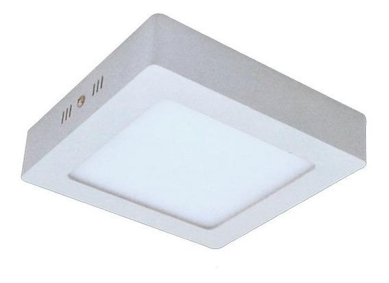 Luminaria Sobrepor Led 12w Mini Plafon Quadrado Teto 17cm