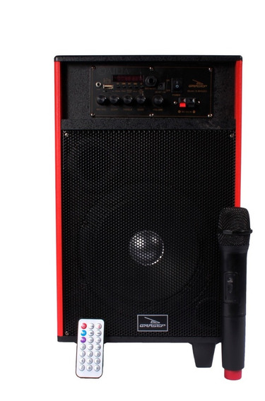 Caixa De Som Amplific 100w Bluetooth Sub 8 Usb Sd Fm Mic