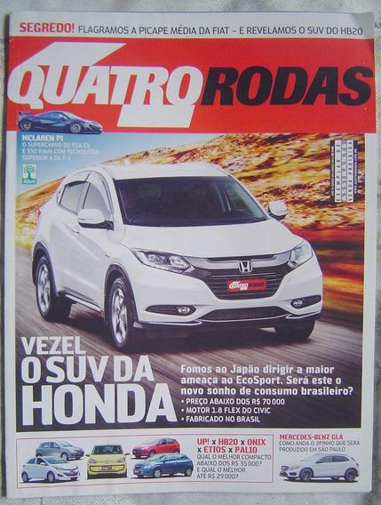 Revista 4 Rodas Especial - Edição 654 - Vezel O Suv Da Honda