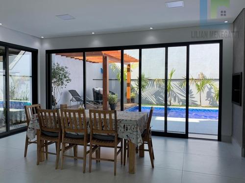 Imagem 1 de 17 de Venda De Casa Em Condomínio Fechado Ibi Aram, Com 3 Suítes. Em Itupeva - Cc00073 - 69529054