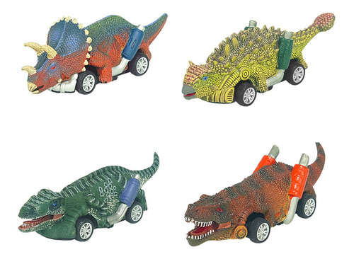 Imagen 1 de 8 de Cars For Children Dinosaurios Juguetes Pack De 4 Veh¿culos.