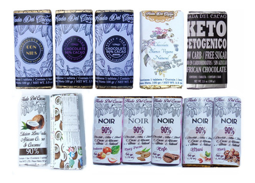 Imagen 1 de 6 de Combo 12 Tabletas 90% Y 96% Cacao Puro + Stevia Keto Vegano